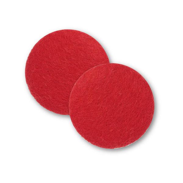 Sæt af 2 knapper til design-selv puder / Rød 5001