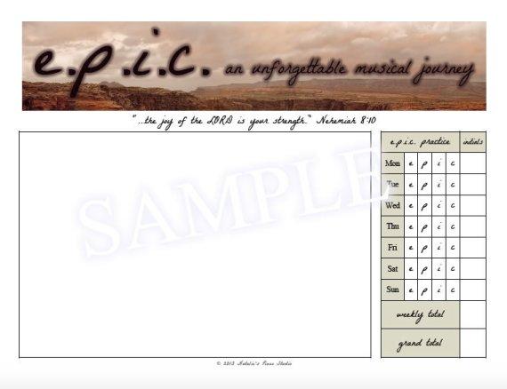 e.p.i.c. Assignment Page Sample