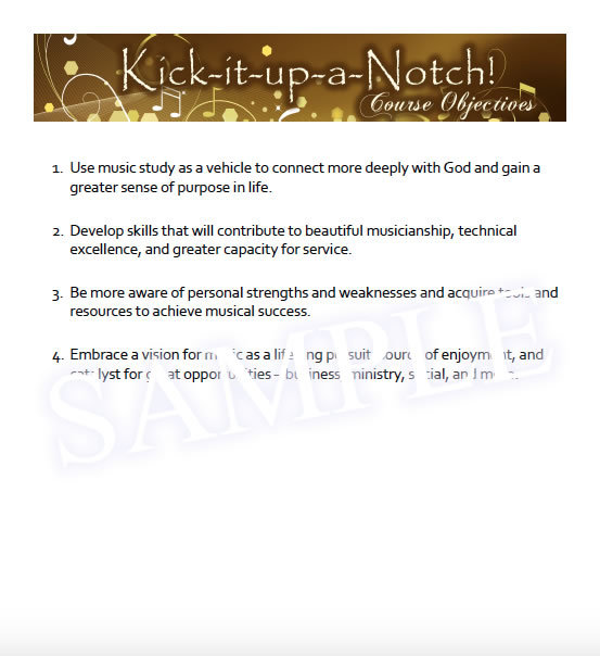 Kick-it-up-a-Notch Sample - Overview
