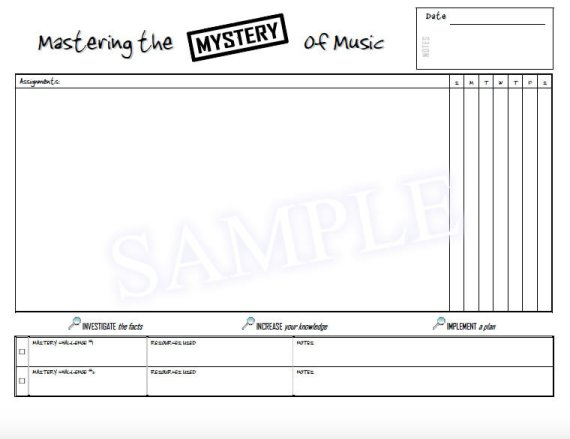Mastering the Mystery of Music Sample - Assignment Book