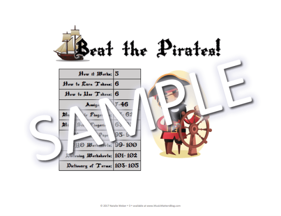 Beat the Pirates! Practice Incentive Theme Sample - Table of Contents