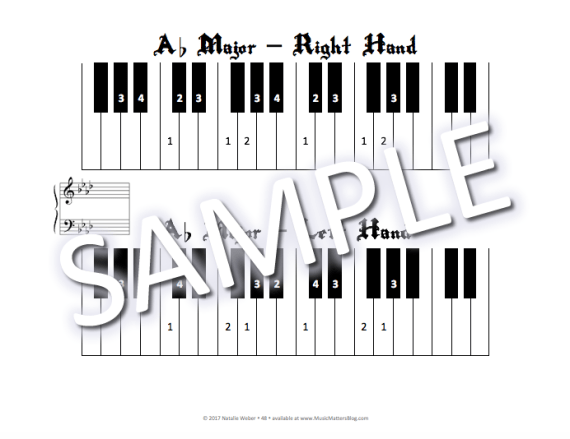 Beat the Pirates! Practice Incentive Theme Sample - Scale Fingering Page