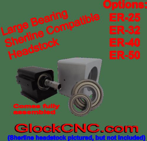 Sherline Taig Spindle Upgrade ER50 Collet Headstock GBER50