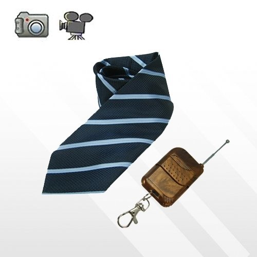 Fashionable Tie DVR Video Spy Camera and Audio Recorder with Wireless Remote