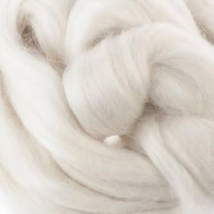 Mohair Sliver - Natural White