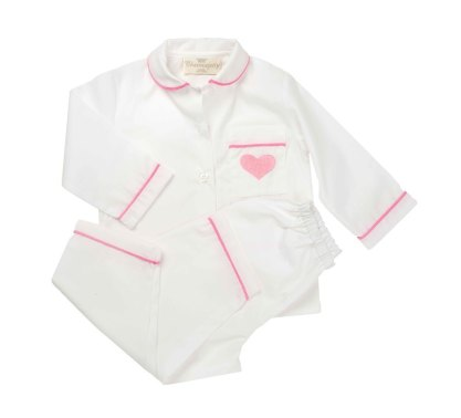 "Childrens' Pyjamas ""The Heart"" in Pink, Blue or Red"