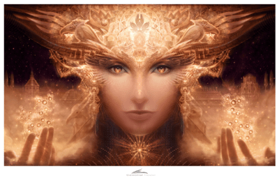Celestial Healer - 28 in. by 17 in. Limited Edition Signed Paper Print