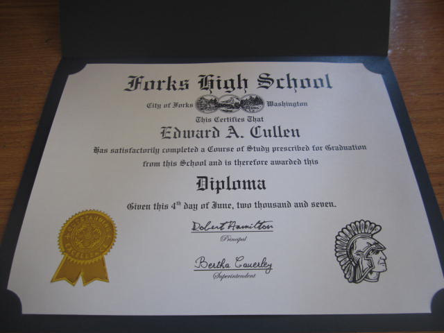 Forks High School Diploma elf1084