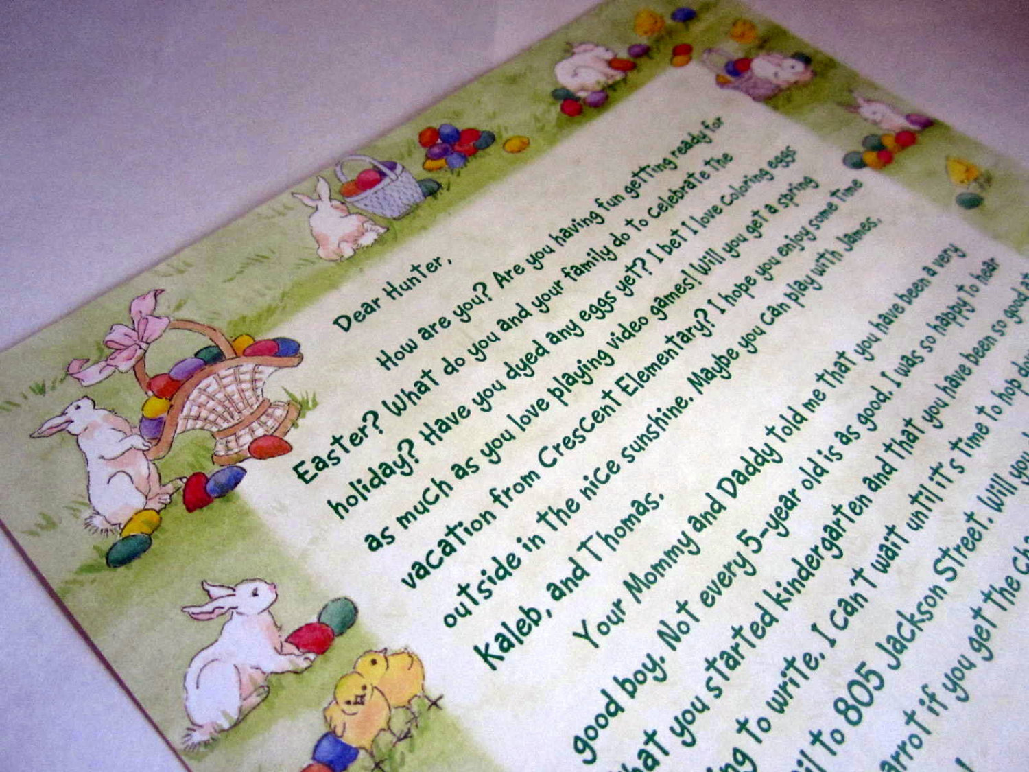Letter from the Easter Bunny elf1047