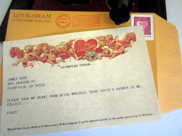 Love-Gram / Cupid Valentine Telegram elf1086