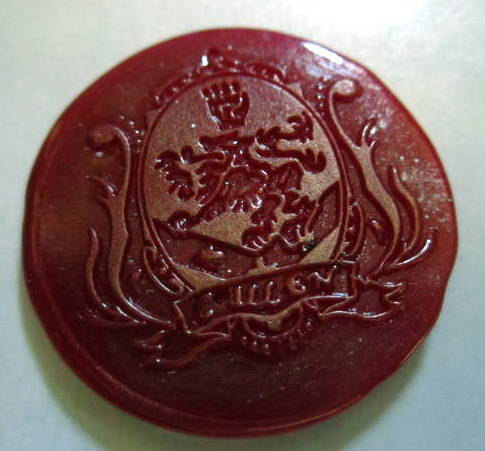 Cullen Crest Wax Seals with Gold Highlights