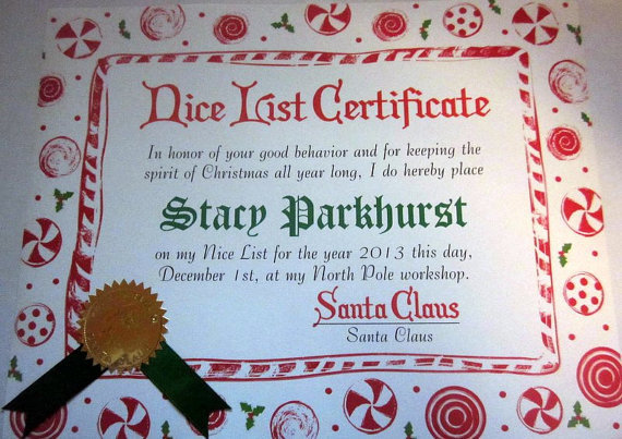 Peppermint Candy Certificate