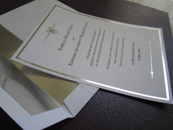Twilight wedding invitation