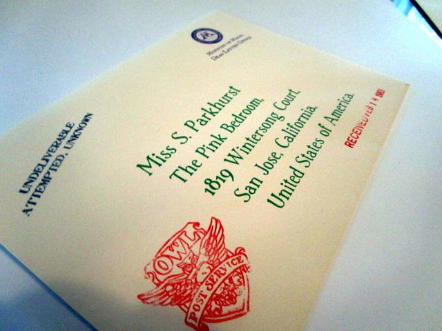 Dead Letter Office envelope front