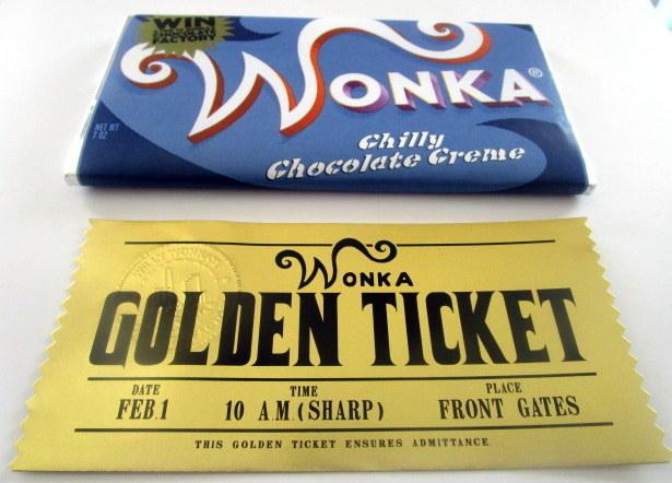 Modern Wonka Chilly Chocolate Creme Bar & Golden Ticket