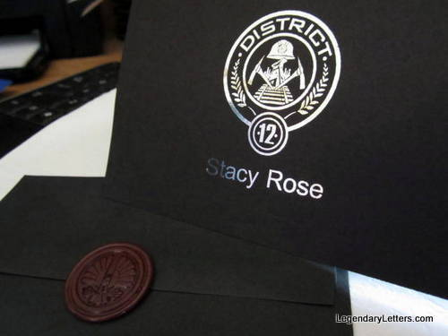 Starving Games District or Jay Notecards & Wax Seals (10) elf1039