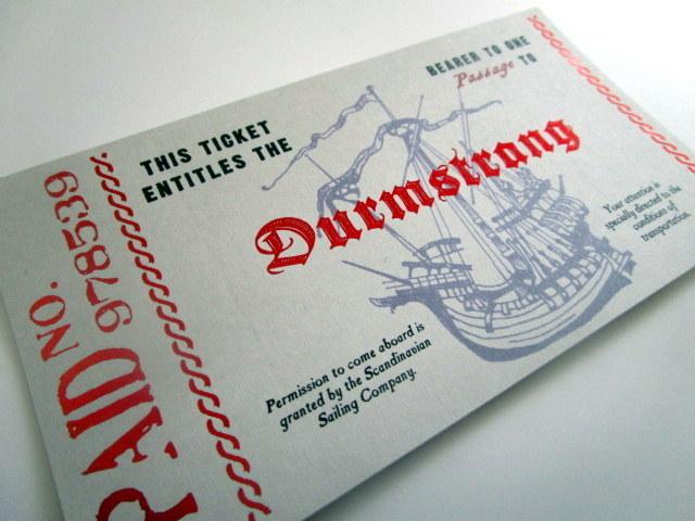 Scandinavian Wizarding School Boat Ticket elf1127