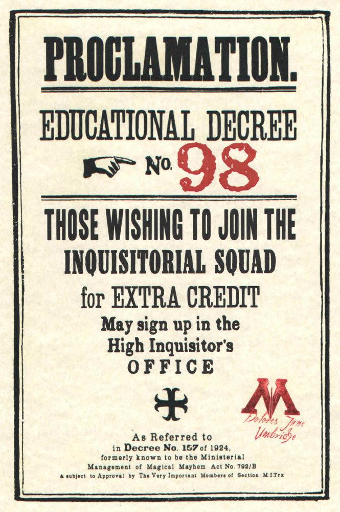 Proclamation Educational Decree