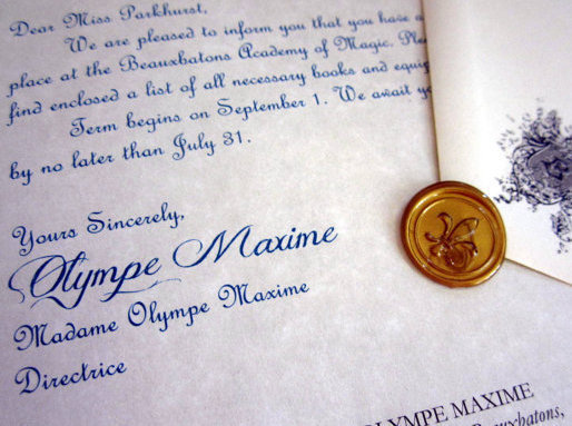 Wizarding Acceptance Letter (French School) elf1007
