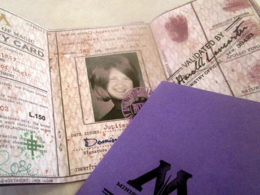 British Wizarding Government Identity (I.D.) Card elf1052