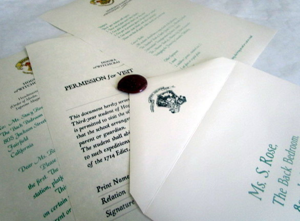 Wizarding School 3rd Year  Letter & Permission Slip elf1028