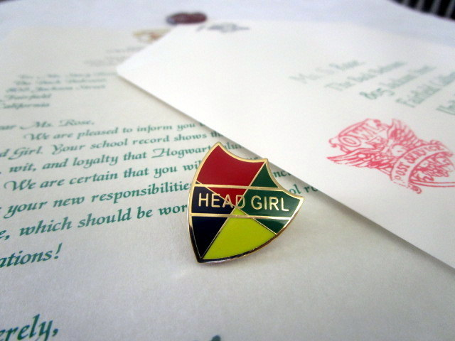 Head Boy or Head Girl Letter with Pin elf1026