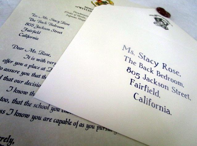 Wizarding School Rejection Letter (British School) elf1036