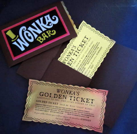 Classic Golden Ticket in Folder Customized 00034