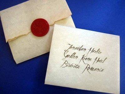 Dracula's Letter to Jonathan Harker