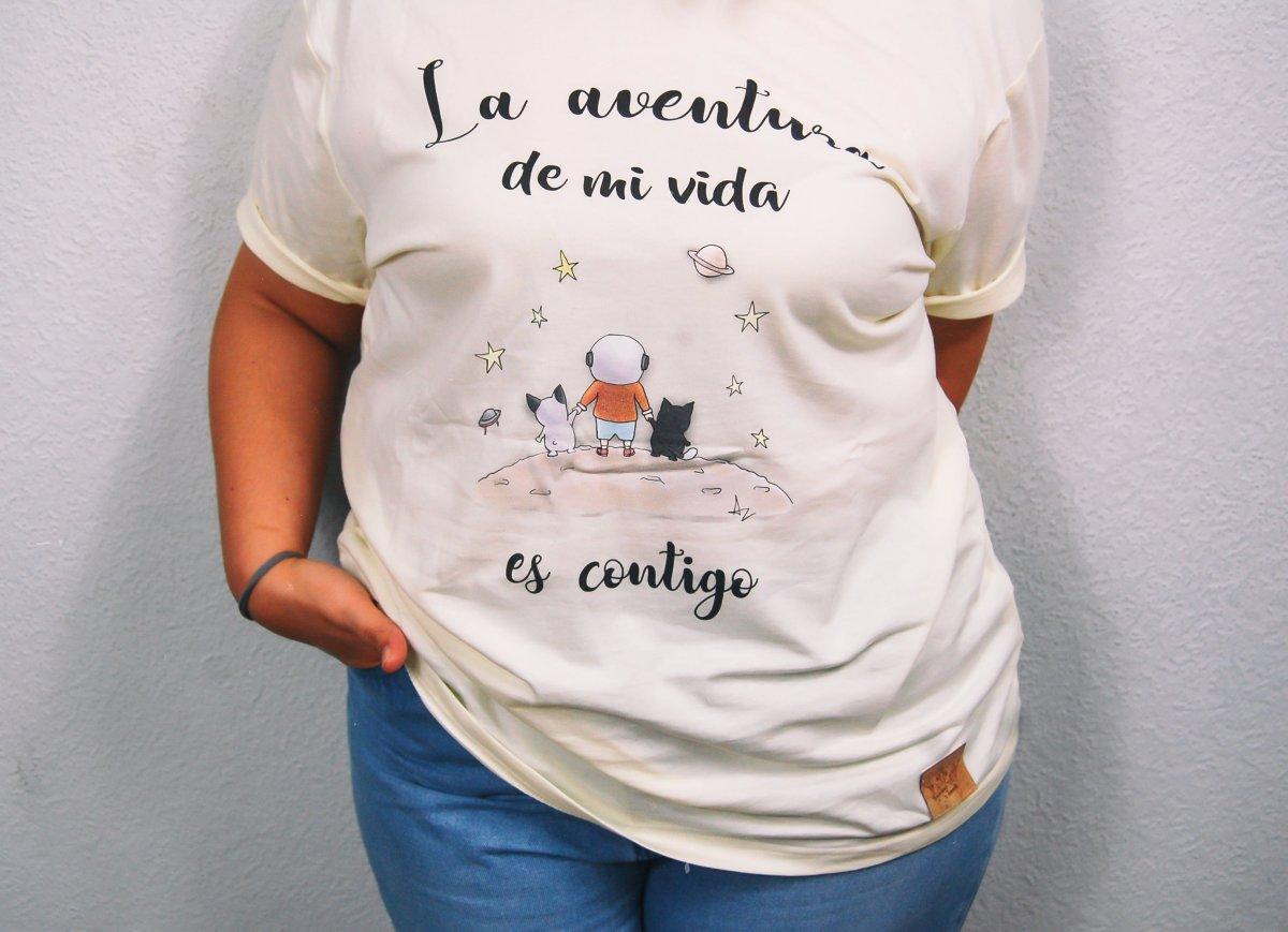"Camiseta ""La aventura de mi vida es contigo"""