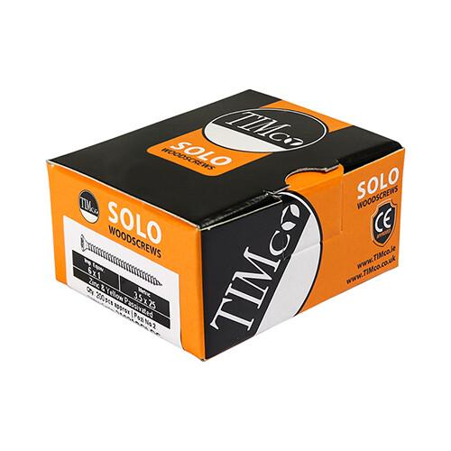 4.0 x 70mm Countersunk Pozi Wood Screws  Zinc & Yellow (Box of 200)