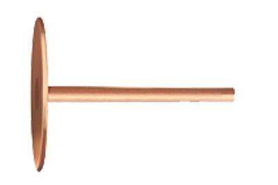 20 x 1.5mm Copper Disc Rivets Bag of 250