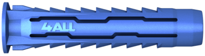 5mm x 25mm (3-4mm Screws) Rawl 4ALL Plug  Box of 100