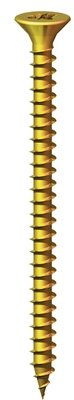4.0 x 25mm Countersunk Pozi Wood Screws  Zinc & Yellow (Box of 200)