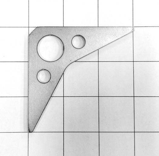 Gusset, 3 holes 2883x