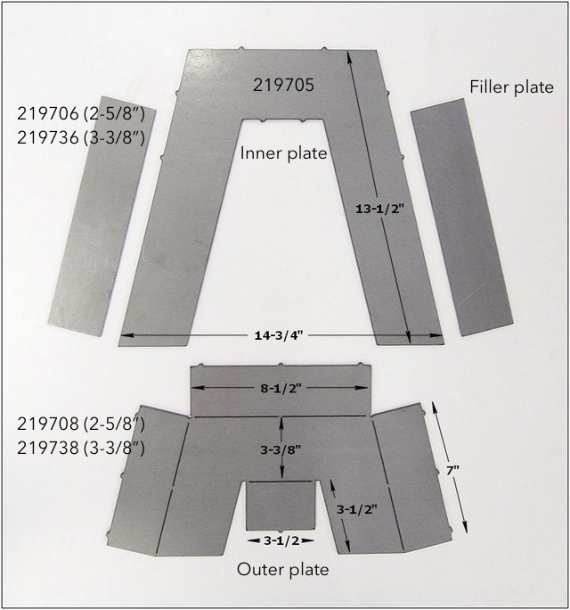 Step Notch Kit Pieces 2197xx