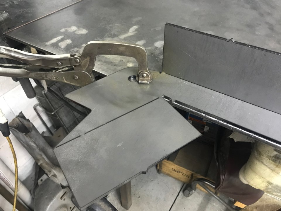 Ready to weld crossmember plate, supplied flat.