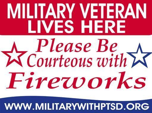 Military Veteran Firework Sign 21007