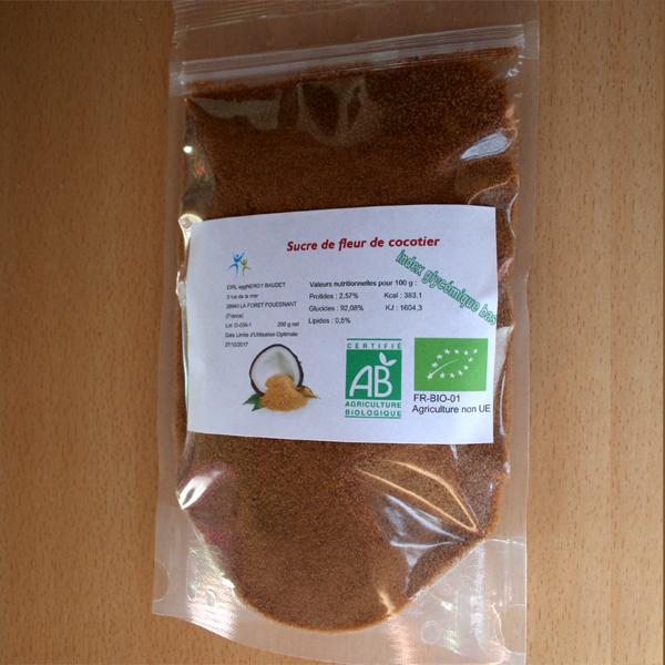 Sucre de fleur de coco bio en 200 g 00327