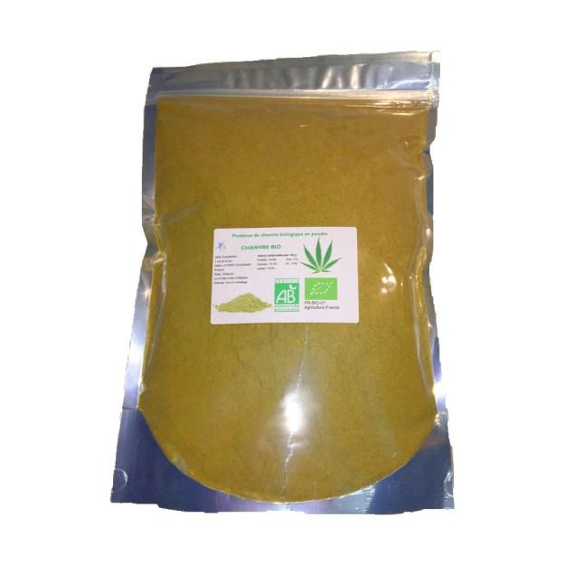 Protéines de chanvre bio NATURE en 1,2 kg - Origine: France 00297