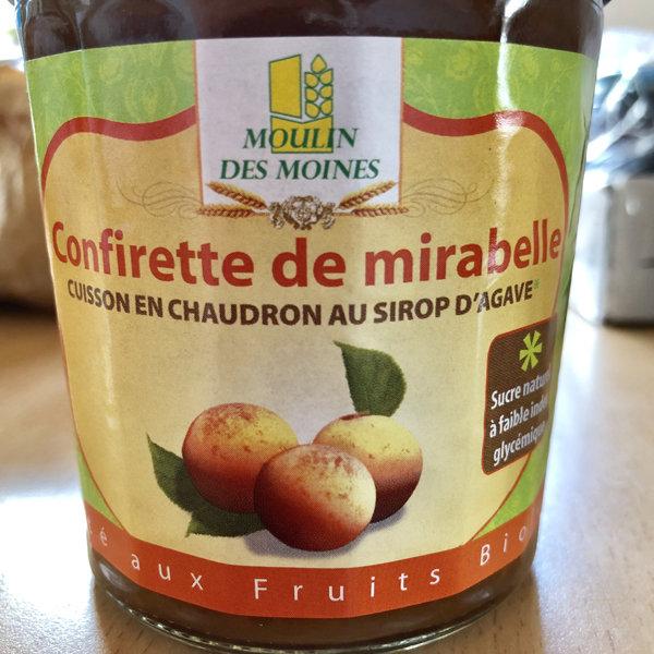 Confiture au sirop d'agave (à faible IG): 330 g net.