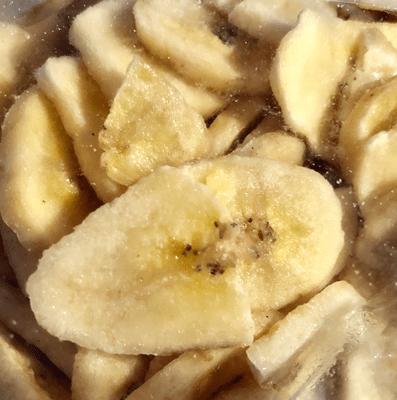 Bananes séchées en chips en 200 g.