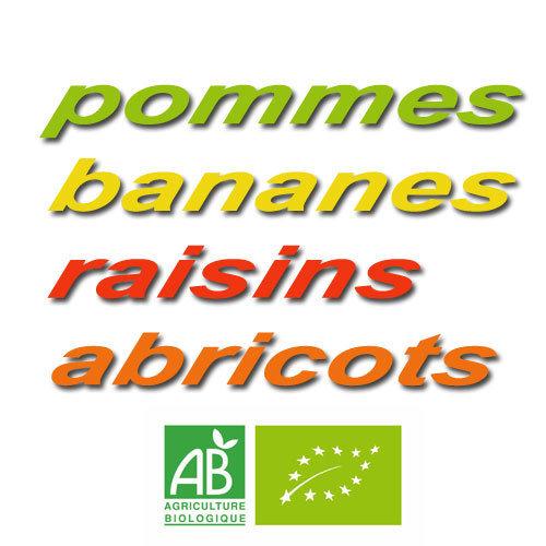 Mélange fruits secs (bananes, raisins, pommes et abricots) en 200 g 00460