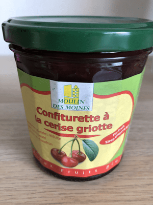 Confiturette à la cerise griotte (à faible IG): 330 g net.