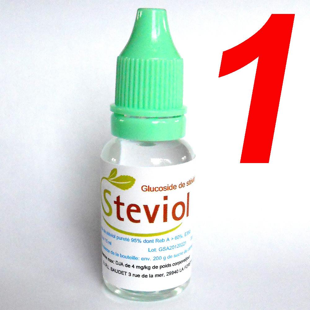 Complétez votre commande avec 1 Extrait de stévia liquide 15 ml