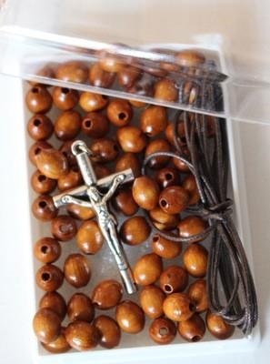 Kit crea rosario in legno