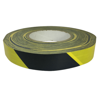 Black & Yellow Striped Hazard Duct Tape
