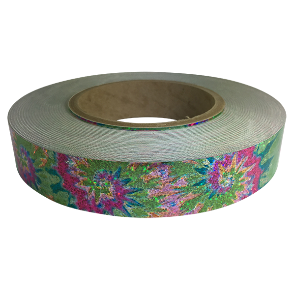 Holographic Sequin Tape, Tie Dye Pink-Green
