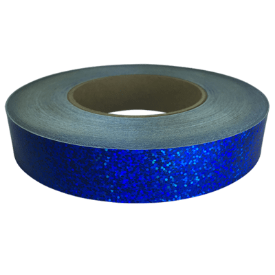 Holographic Sequin Tape, Cobalt Blue