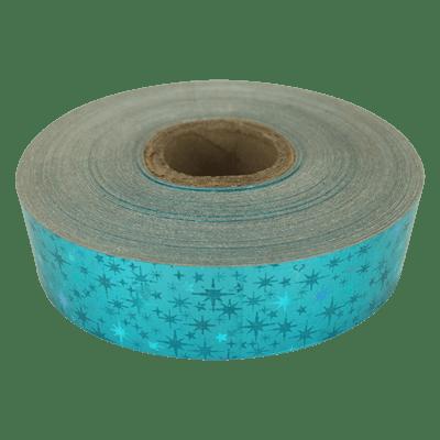 Holographic Star Tape, Aquamarine